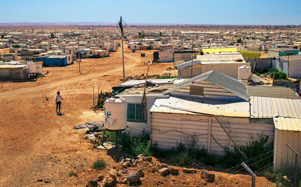 Im Zaatari-Camp in Jordanien leben 80 000 Menschen