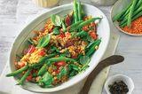 Lauwarmer Bohnen-Linsen-Salat