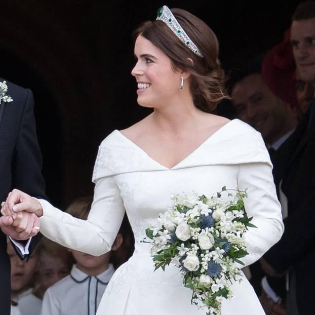 Eugenie bei ihrer Hochzeit