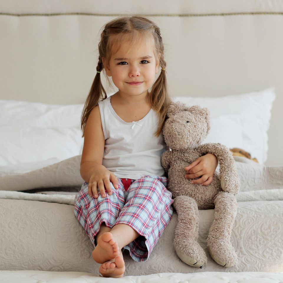 Kurze Mädchennamen: Mädchen mit Teddy