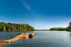 Radreise durch Kanada: Blick auf einen See
