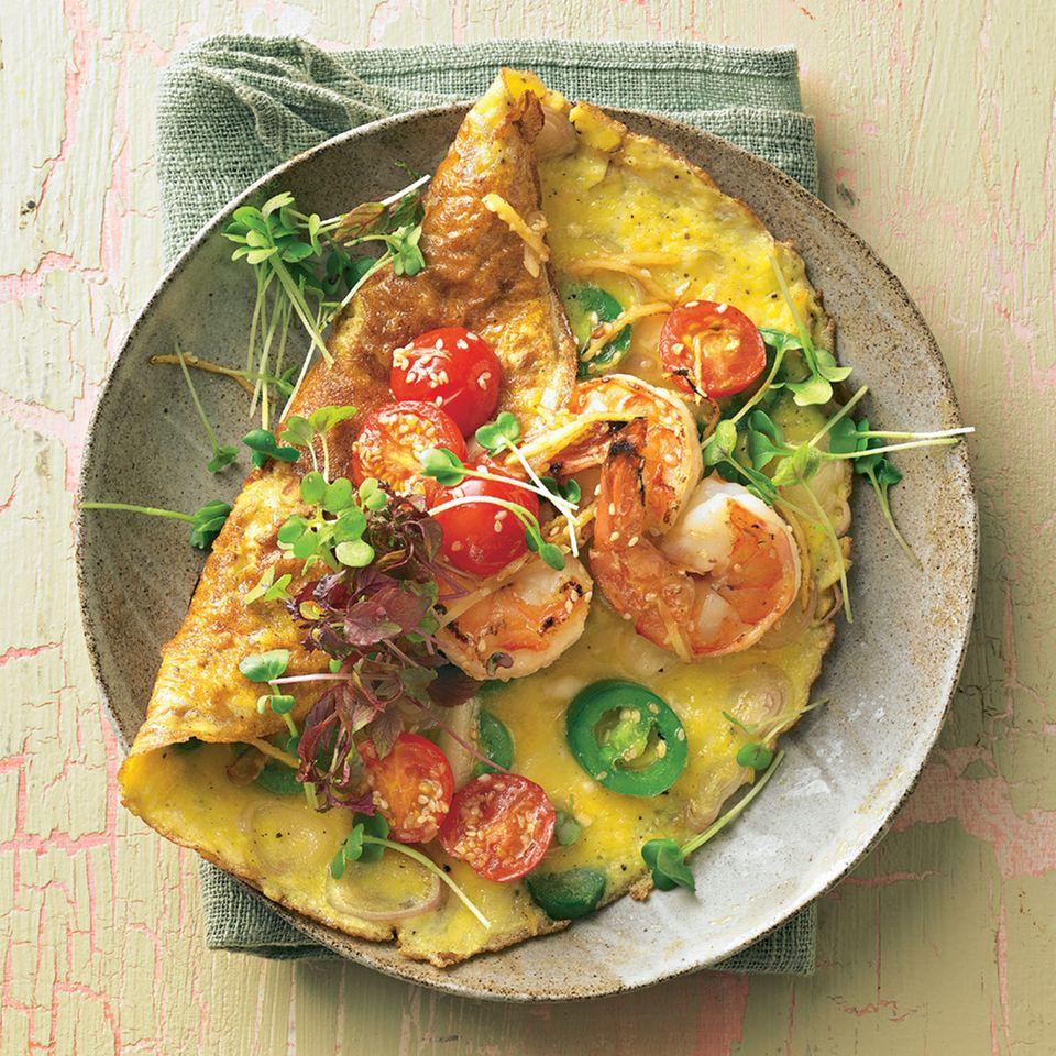 Garnelen-Omelett