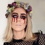 Verwandlung der Stars: Lena Meyer-Landrut mit Halloween-Make-up