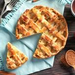 Apfelkuchen mit Gitter