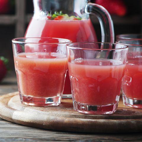 Erdbeer-Grapefruit-Saft