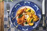 Paniertes Hähnchen-Saltimbocca