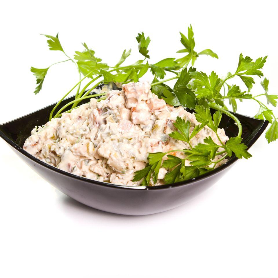 Geflügelsalat mit Currysauce
