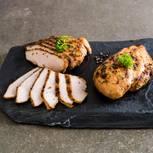 Putenbrust mit karamelisierten Maronen und Süßkartoffelpüree