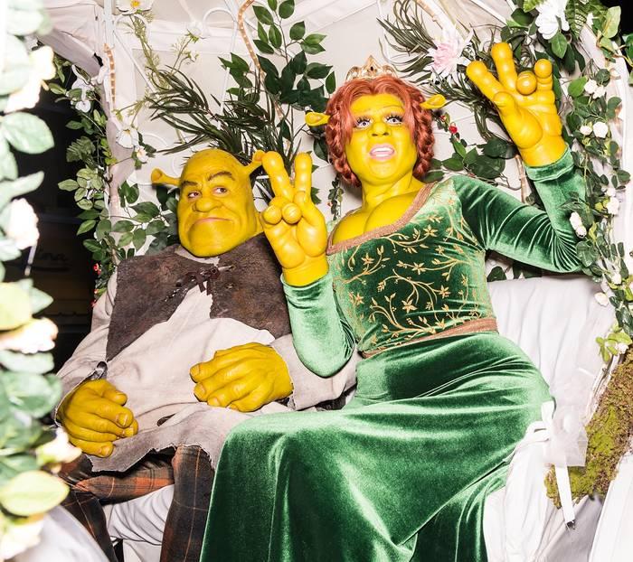 Heidi Klum Halloween: Heidi Klum und Tom Kaulitz als Shrek und Fiona