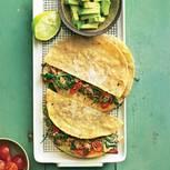 Quesadillas mit Hackfleisch und Spinat