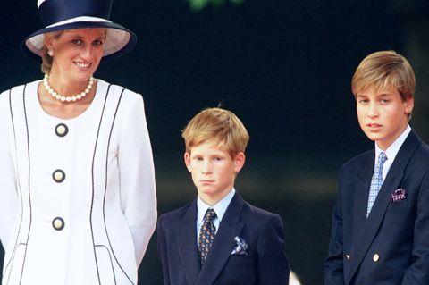 Prinzessin Diana: Lady Di zusammen mit Prinz Harry, Prinz William und Prinz Charles