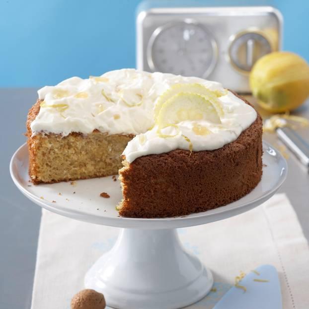 Apfel-Mandel-Kuchen mit Ingwer-Topping