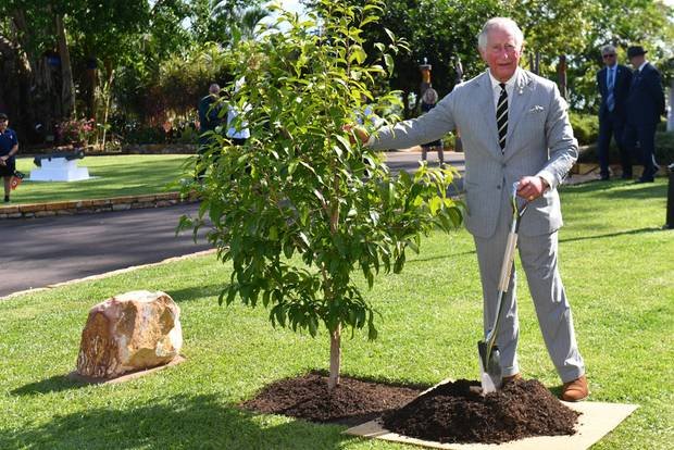 Prinz Charles: Der britische Thronfolger mit einem selbst gepflanzten Baum