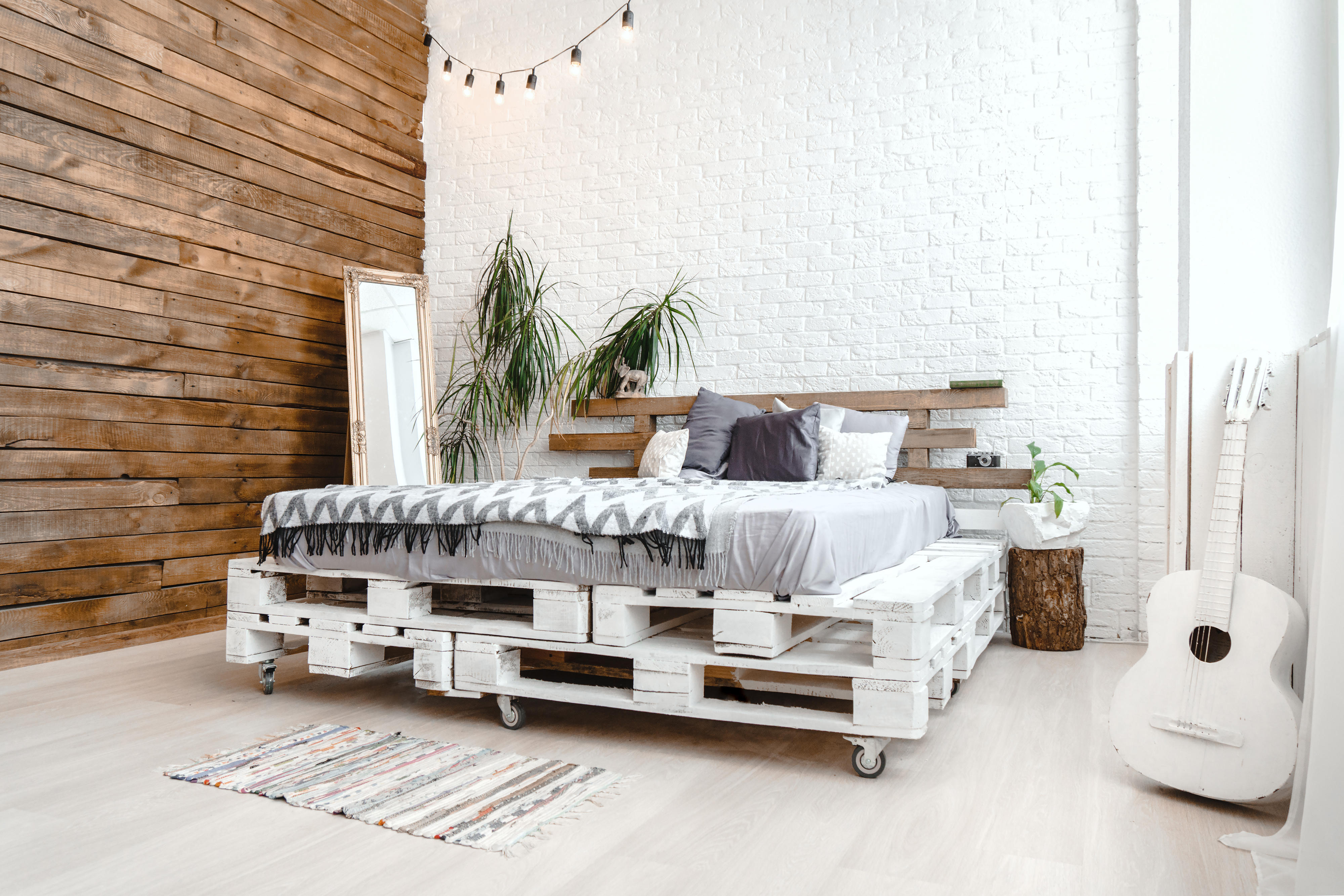 bett selber bauen so einfach geht s. Black Bedroom Furniture Sets. Home Design Ideas