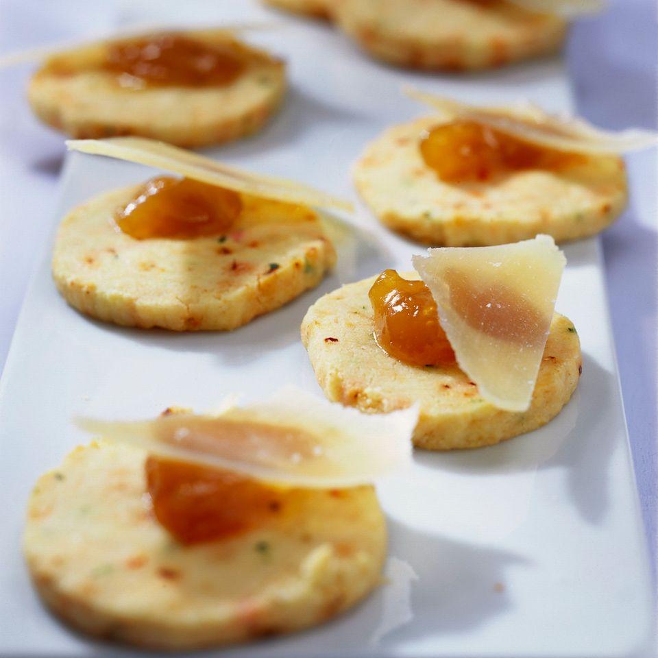 Lorbeer-Chili-Kekse mit Parmesan