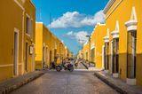 Wo ist es im Winter warm? Straßenblock in Mexiko