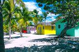 Wo ist es im Winter warm? Strandhütten Dominikanische Republik