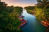 Wo ist es im Winter warm? Fluss in Jamaica
