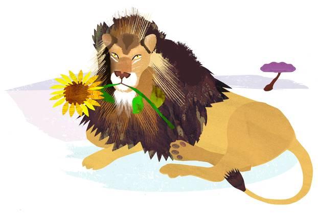 Jahreshoroskop Löwe: Gemalter Löwe