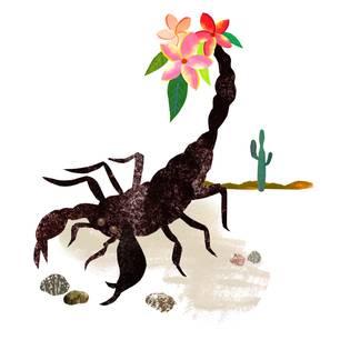 Jahreshoroskop Skorpion: Gemalter Skorpion