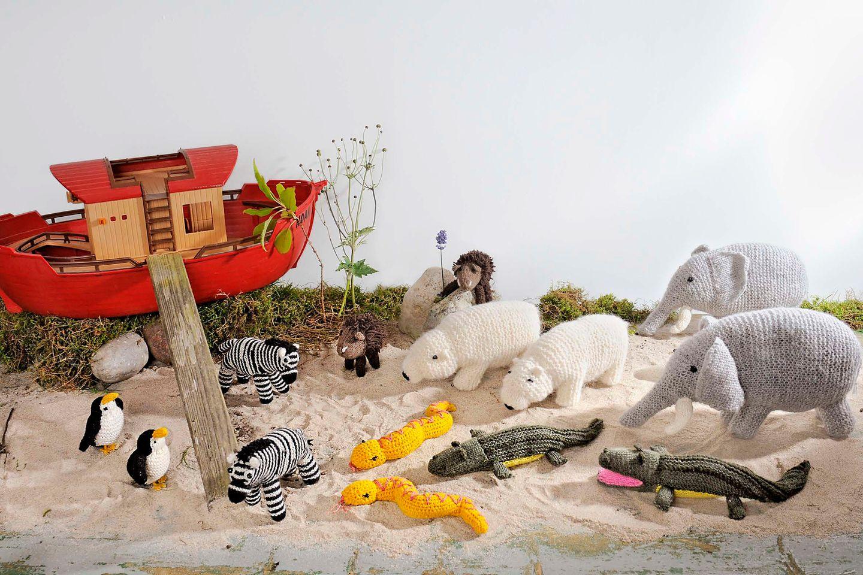 Stricktiere: Wir stricken die Passagiere der Arche Noah!