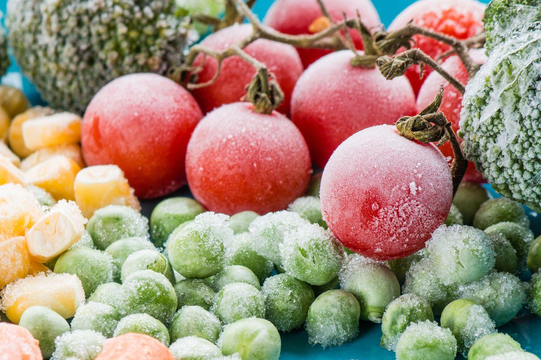 Einfrieren: Eingefrorene Lebensmittel