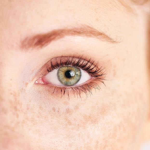 Empfindliche Augen: Grünes Auge