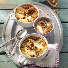 Milchreis-Gratin mit Birnen und Walnüssen