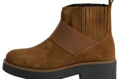 Winterstiefel: Cognacfarbener Chelsea-Boots