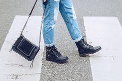 Winterstiefel: Beine mir schwarzen Boots