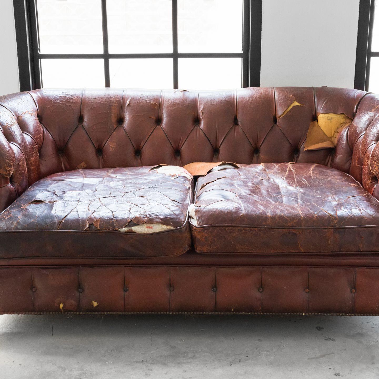 Kunstleder Sofa Reparatur