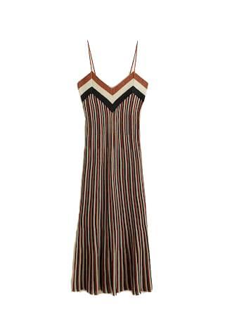 Festliche Kleider: Gestreiftes Metallic-Kleid von Mango