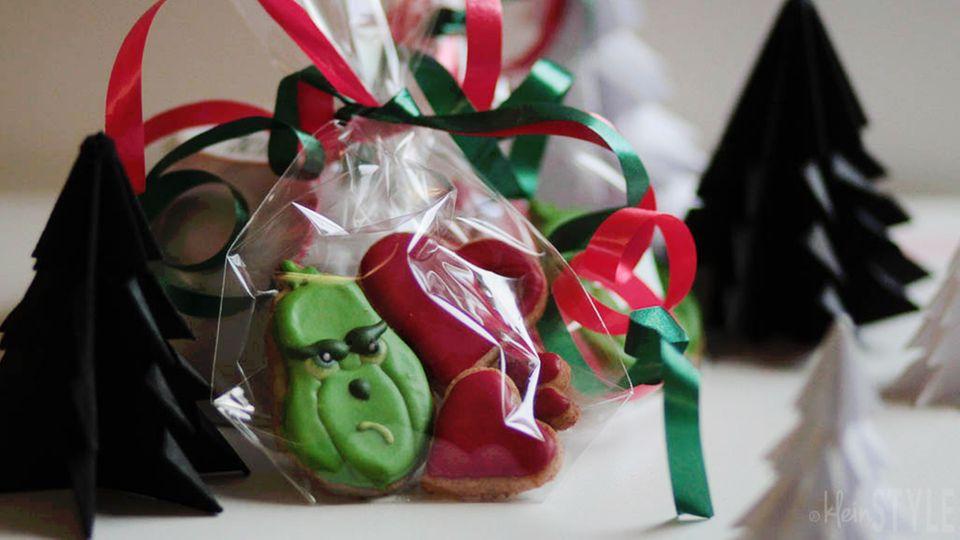 Verpackte Kekse zum Verschenken