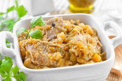 Gänseklein in Currysauce