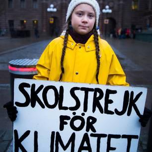 Greta Thunberg streikt vor dem schwedischen Reichstag