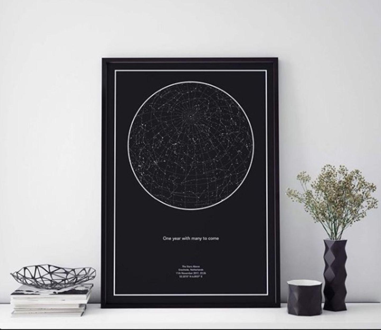 Weihnachtsgeschenke für den Partner: Sternenkarte von mystarmap