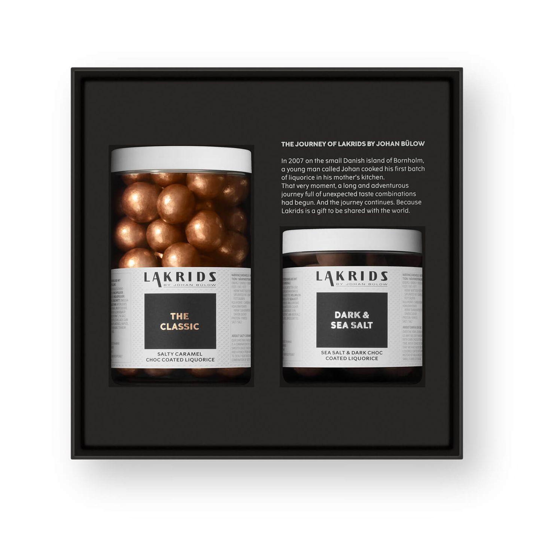 Weihnachtsgeschenke für den Partner: Lakrids Double Salty Caramel & Regular Dark & Sea Salt