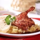 Gefüllte Ente mit Lebkuchensauce
