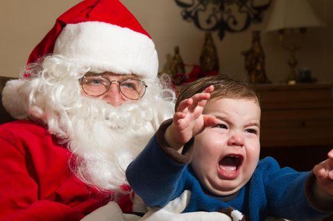 Kreisch! Diese Kinder mögen den Weihnachtsmann gar nicht 😨