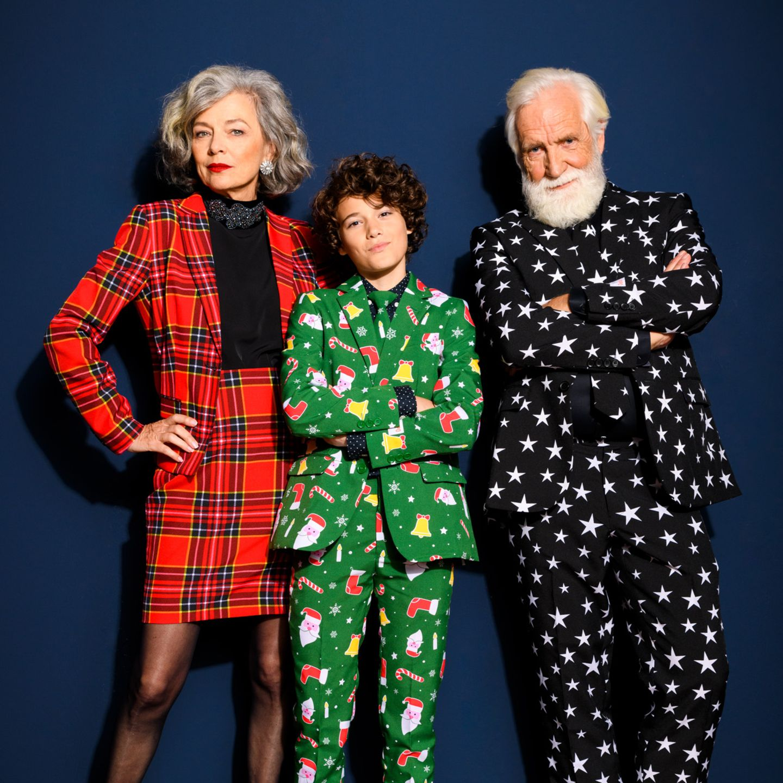 Mehr Statement geht nicht! Für alle Anti-Grinches da draußen... Opposuits Weihnachtsanzüge in allen Mustern, Farben und ExtremenMit diesen schrägen Teilen ist man der Star auf jeder Weihnachtsfeier. Oh ja, Weihnachtsfeeling kann man kaufen.