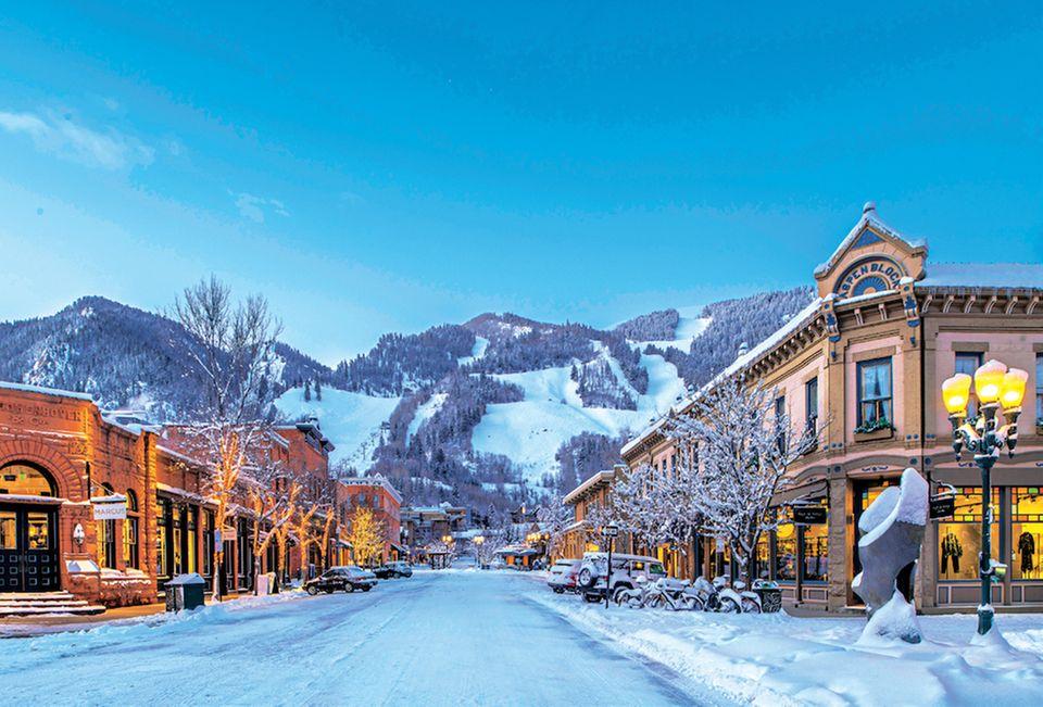 Skifahren Aspen: Ein Foto von der Stadt