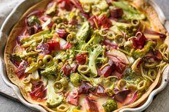 Brokkoli-Oliven-Quiche