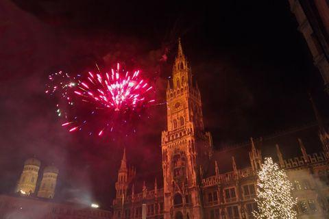 Feuerwerk zu Silvster