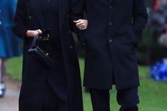Meghan Markle und Prinz Harry auf dem Weg in die Kirche