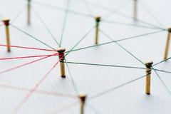 Mindmap erstellen: Aufgespanntes Netz aus Fäden