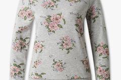 Neu in den Shops im Januar: Grauer Pullover mit Blumen-Print