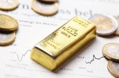 Gold kaufen? Bild von einem Goldbarren