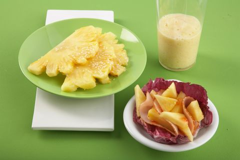 Ananas mit Ahornsirup