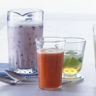 Heidelbeer-Buttermilch-Drink