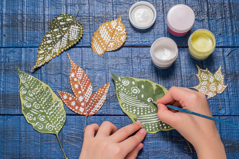 Basteln mit Blättern: 5 tolle Ideen!